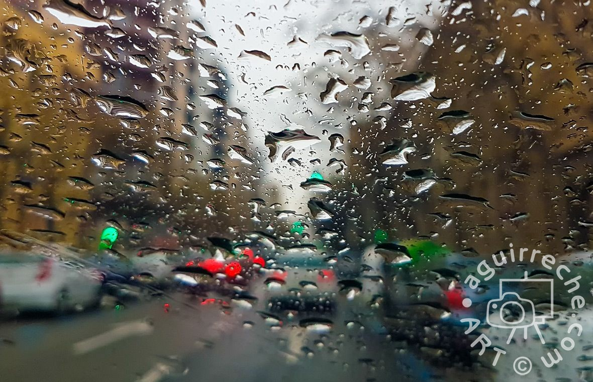 Fotografía gotas de lluvia